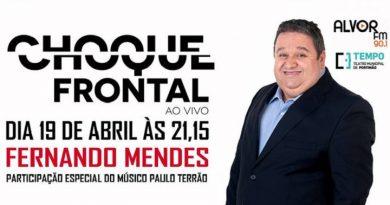 Fernando Mendes é o próximo convidado do Choque Frontal ao Vivo