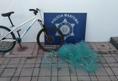 Polícia Marítima apreende arte de pesca com cerca de 30 metros de comprimento